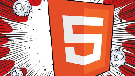 Logo de HTML5 en estilo comics