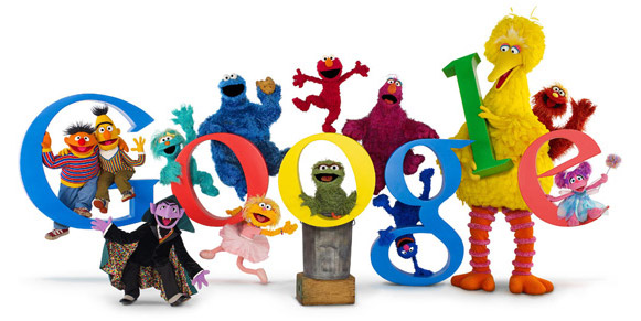 Logo de Google con Muppets