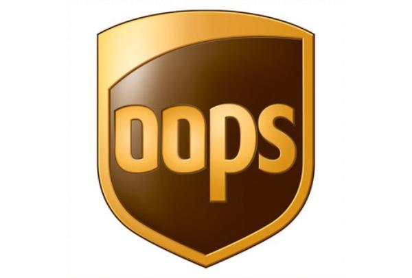 Logo de UPS dice OOps en lugar de UPS