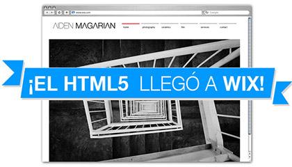 Un sitio Wix HTML5