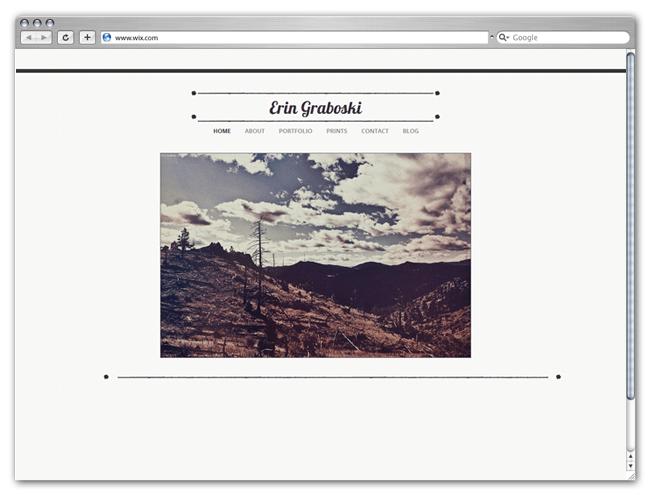 Sitio HTML5 Wix de Erin Graboski