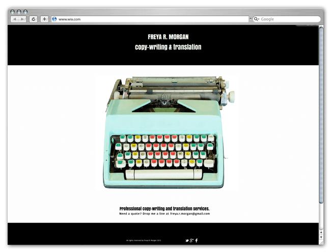 Página Wix HTML5 de Freya Morgan