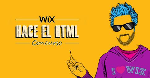 Imagen destacada del chico Wix con logo del concurso