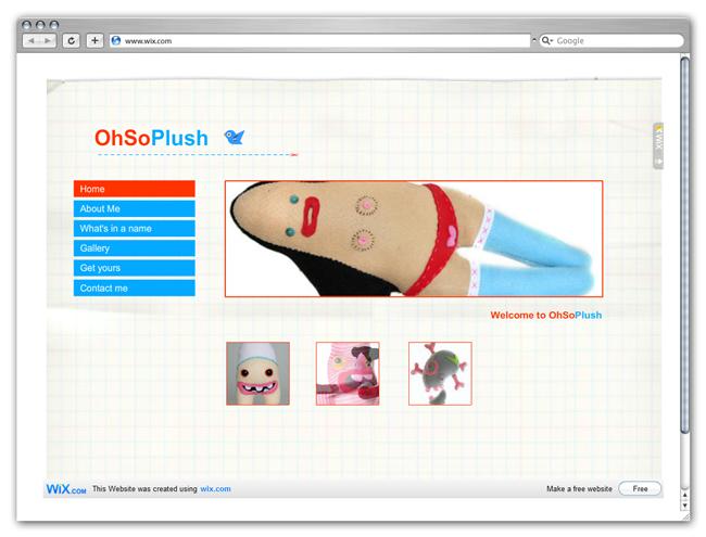 Página de Inicio de Juguetes Oh So Plush