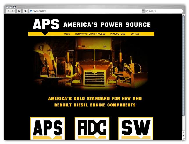 Página Web Wix HTML5 de America's Power Source