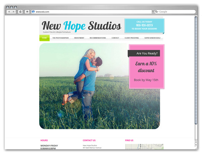 Sitio Web de Fotografía