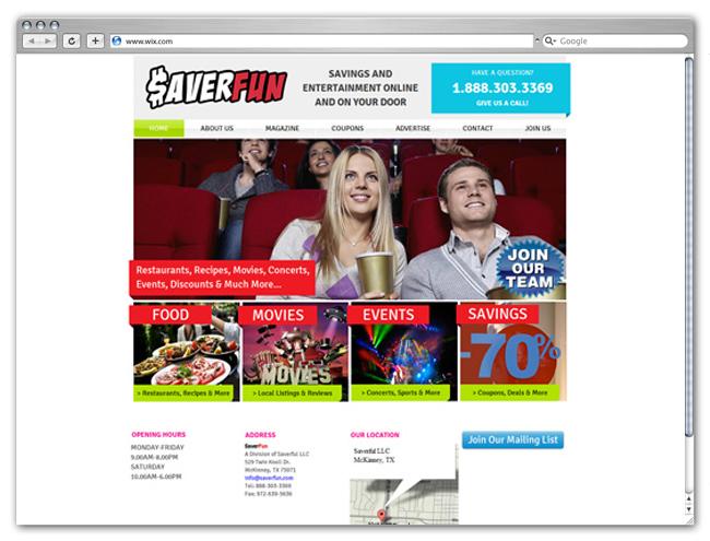 Sitio web de descuentos