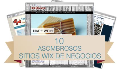 10 Asombrosos Sitios Wix de Negocios