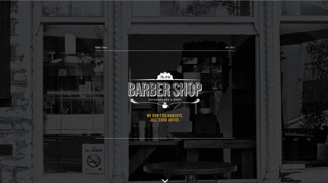 Sitio de Old Barber Shop