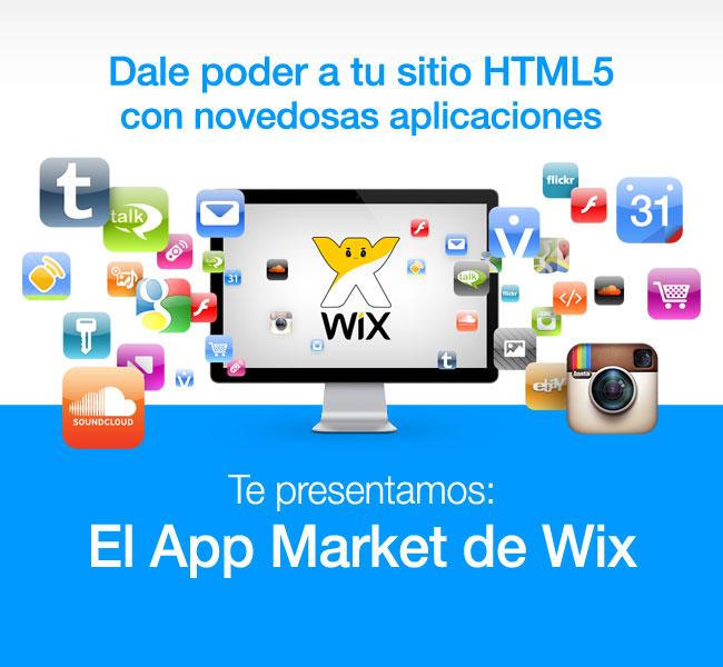 Logos de aplicaciones + logo de Wix