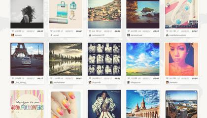 Galería de muchas fotos en Instagram