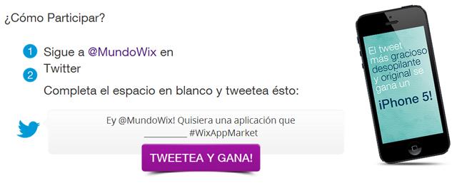 Ey @MundoWix! Quisiera una aplicación que #WixAppMarket