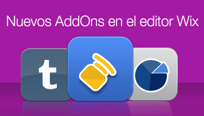 Nuevos AddOns en el editor Wix