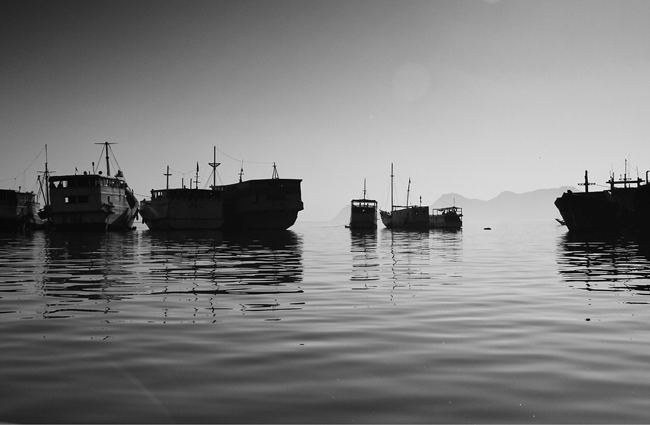 Barcos en un lago