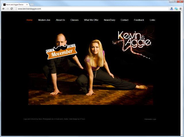 Página de inicio de kevinandaggie.com