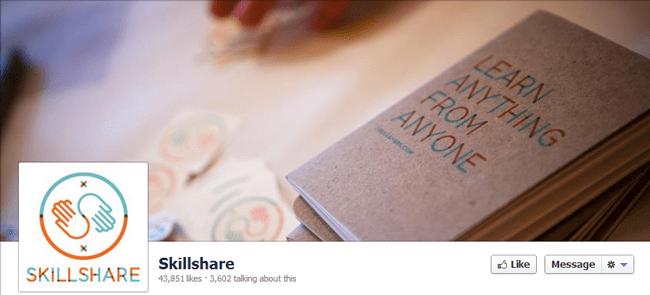 Página de fan de Skillshare