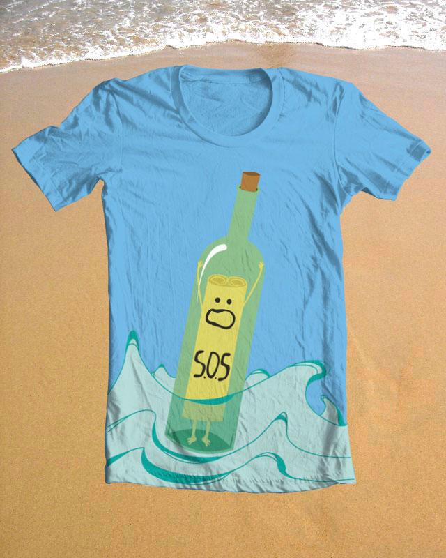 Camiseta en la playa