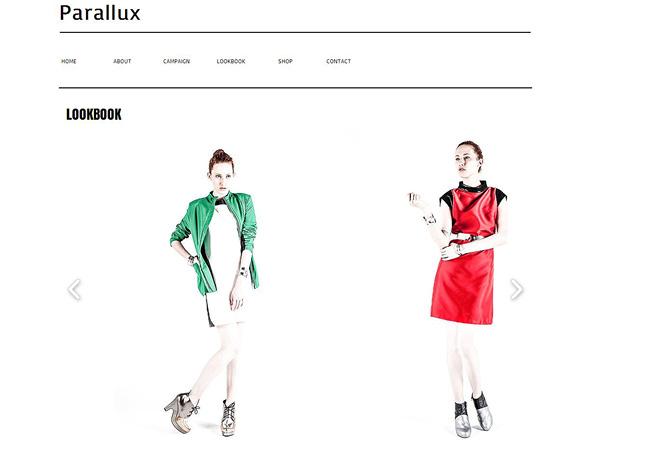 Sitio Web Parallux