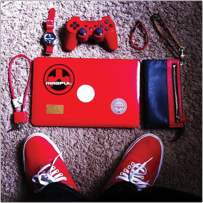 Set de cosas rojas