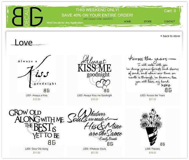 Página de Inicio de BG Decals