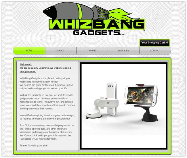 Página de Inicio de Whiz Bang Gadgets