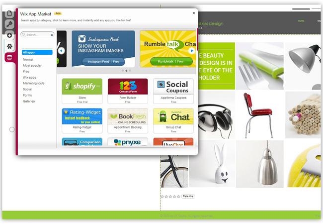 Aplicaciones en el Wix App Market