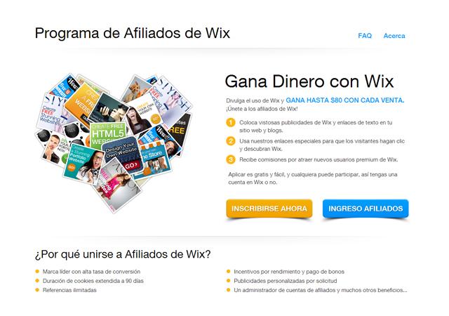 Gana dinero con Wix