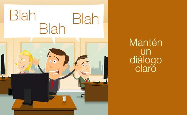 Ilustración de gente en oficina charlando