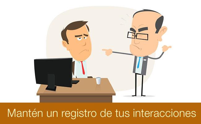 Ilustración de hombre y jefe discutiendo