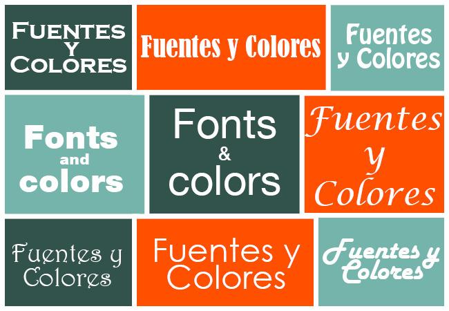 Distintas Fuentes y Colores