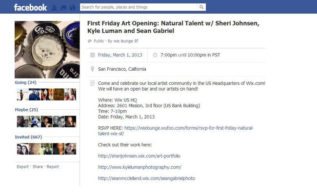 Evento en Facebook