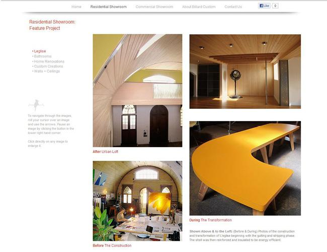 Sitio web de Billard Custom