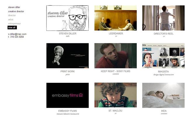 Sitio web de Steven Diller, director creativo