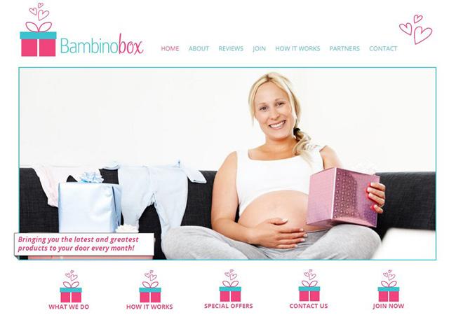 Sitio de productos para bebés