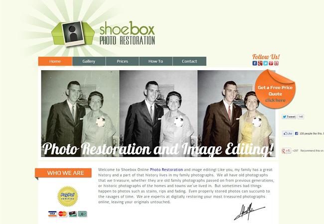 Servicio de restauración de fotos antiguas