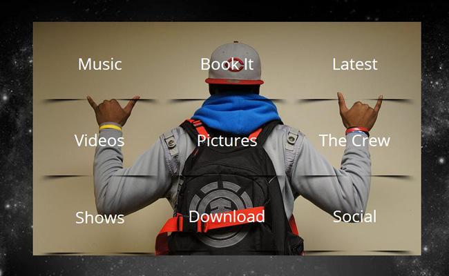Pantallazo del Sitio de Teejay Music