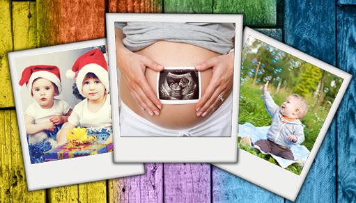 Crea un Hermoso Álbum Online de tu Embarazo y del Primer Año de tu Bebé