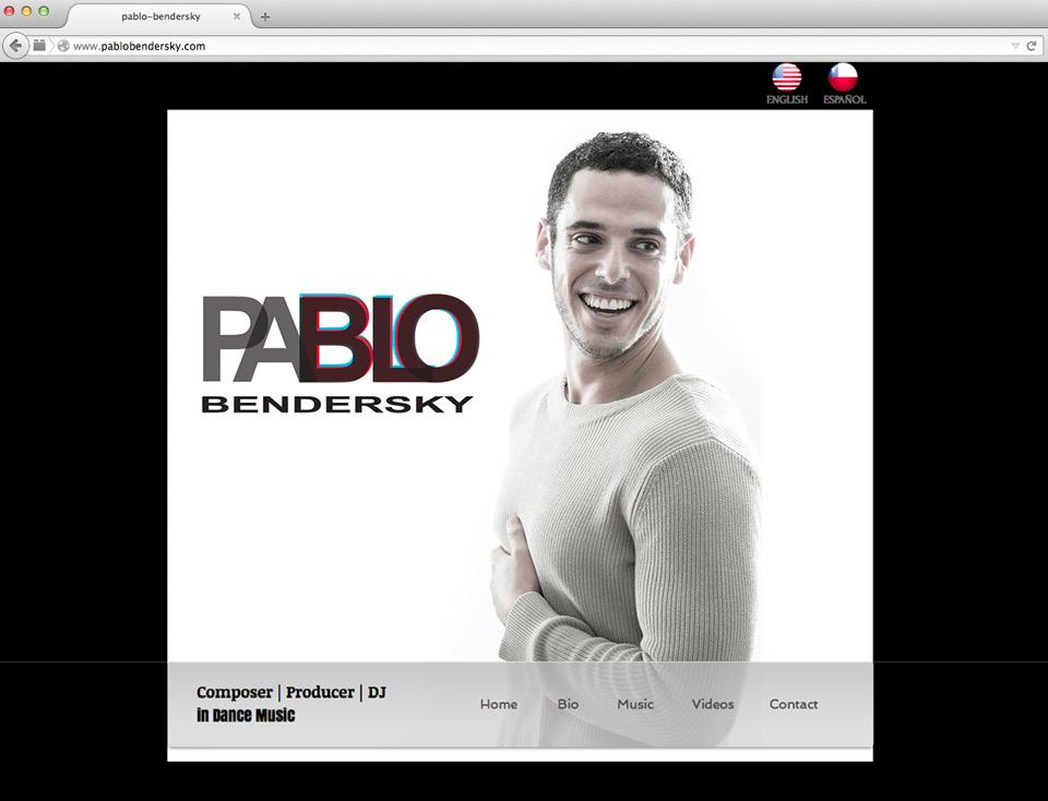 Captura de pantalla de la página web de Pablo Bendersky