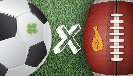 Pelota de fútbol y pelota de fútbol americano