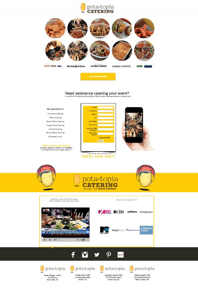 Captura de Pantalla del Sitio Web Pota Topia