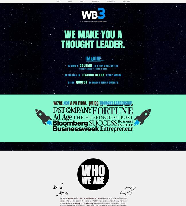 Captura de Pantalla del Sitio Web The Wb3