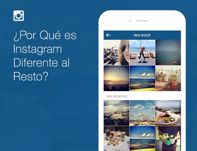 ¿Por Qué es Instagram Diferente al Resto?