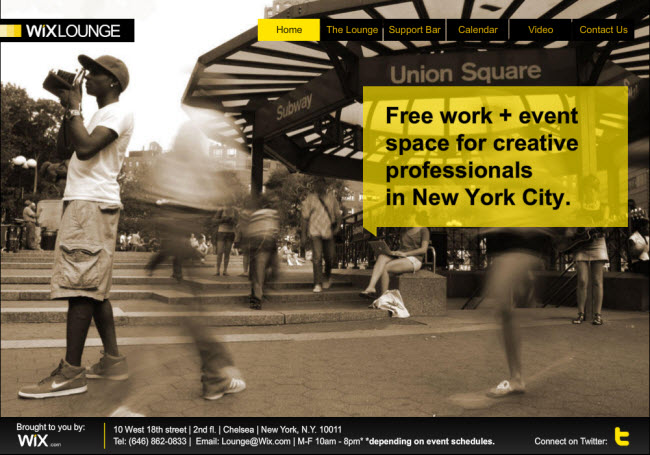 WixLounge - Free Office Space in NYC!