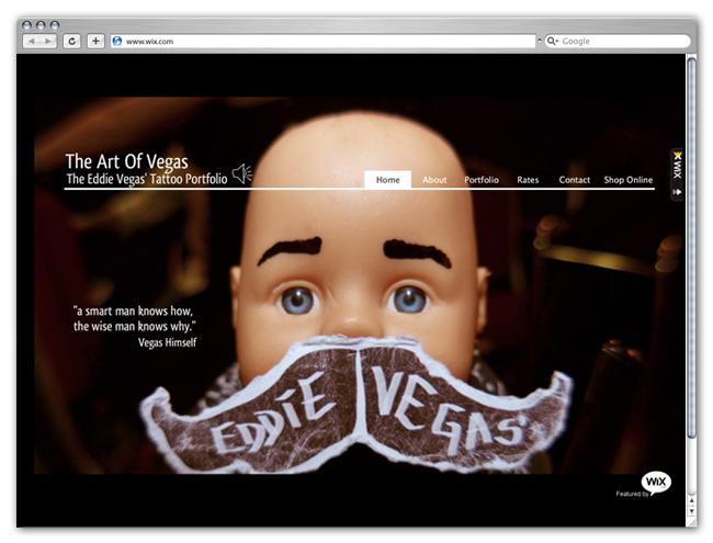 Wix Website Showcase: Tattoo Artists