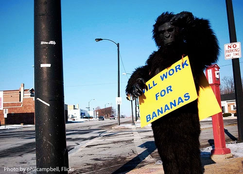 Work for Bananas by philcampbell, Flickr