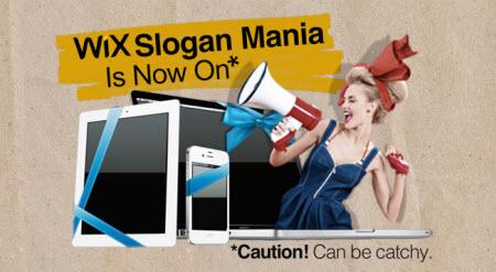 Wix Slogan Mania Contest Winners