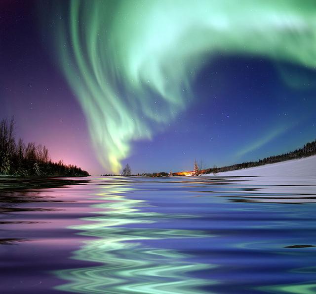 Lago en Polo Norte
