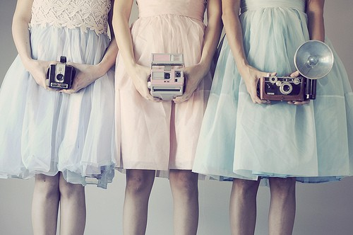 Retro cameras with girls