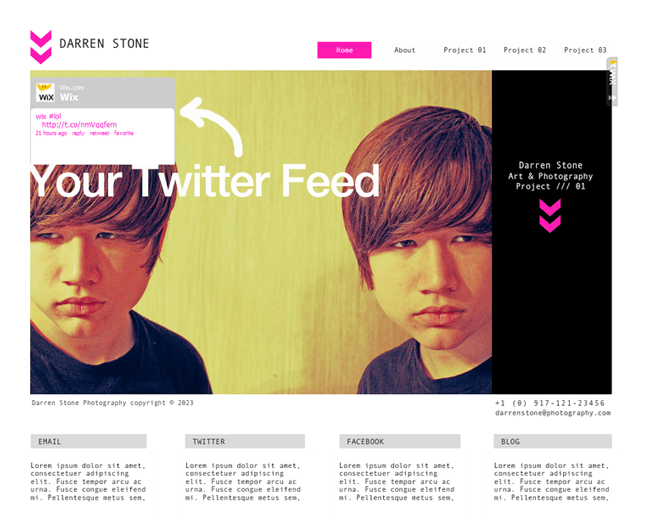 Add a Twitter Feed to a Wix Website