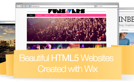 Inspirational Wix HTML5 Websites